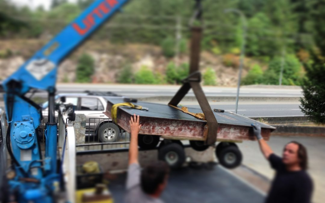 Artifact Weighing 500lbs/227kg Arrives at Heritage Museum