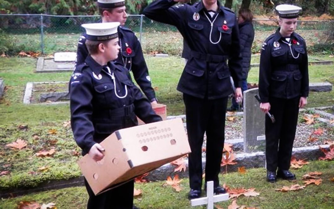The MBMHS organizes the South Cowichan cross placements together with Royal Canadian Legion Branch