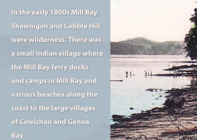 In the early 1800s Mill Bay