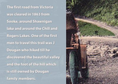 The first road from Victoria
