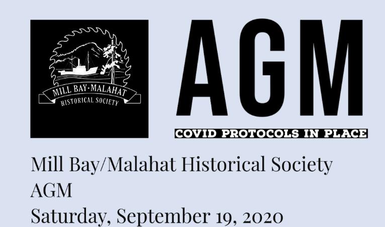 AGM – Saturday, September 19 2020